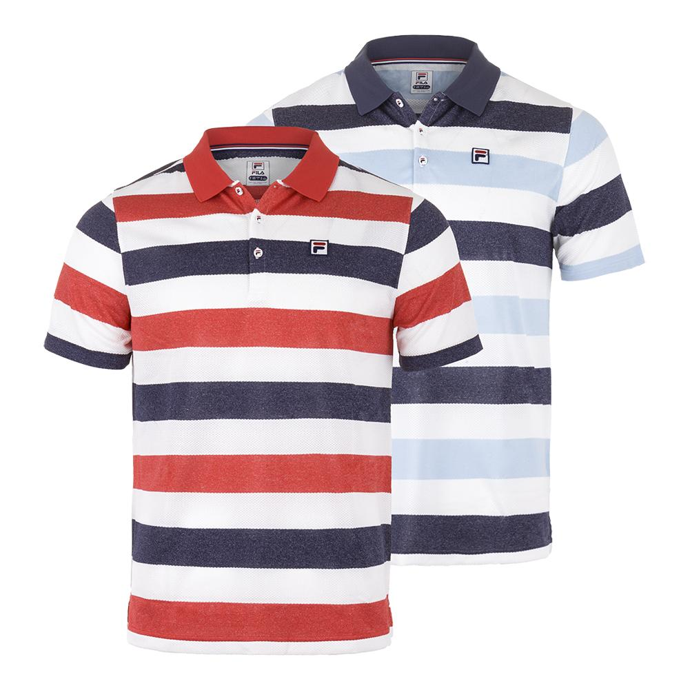 c8e64eab Fila Men's Heritage Striped Tennis Polo