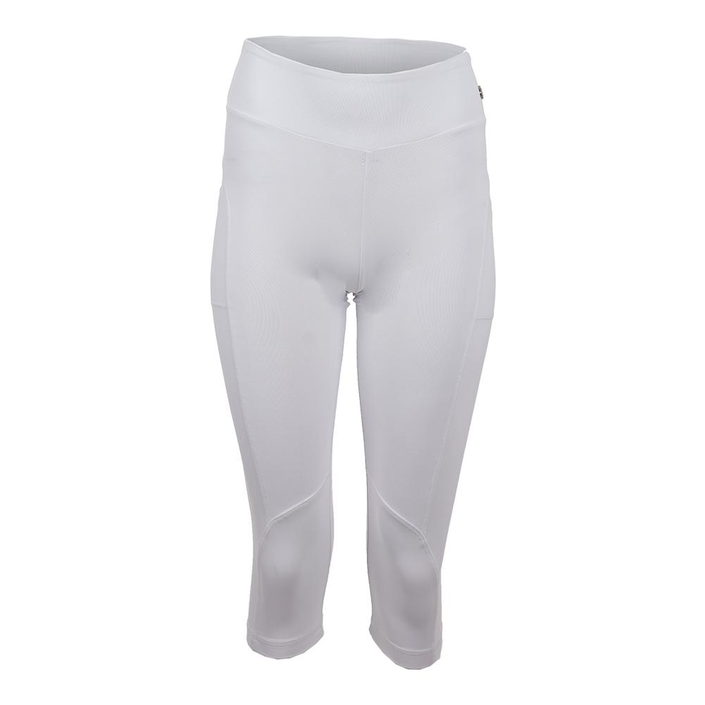 Women's Sleek Tennis Capri White