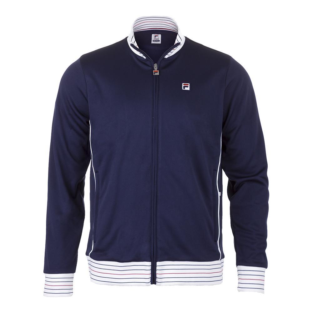 Men's Heritage Tennis Jacket Navy And White