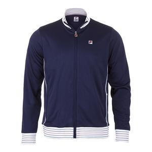 Men`s Heritage Tennis Jacket Navy and White