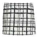Women`s Choas Printed Skirt WHITE/BLACK