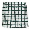 Women`s Choas Printed Skirt WHITE/GREEN
