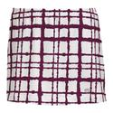 Women`s Choas Printed Skirt WHITE/MAROON