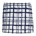 Women`s Choas Printed Skirt WHITE/NAVY
