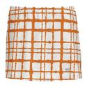 Women`s Choas Printed Skirt WHITE/ORANGE