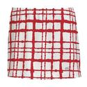 Women`s Choas Printed Skirt WHITE/RED
