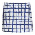 Women`s Choas Printed Skirt WHITE/ROYAL