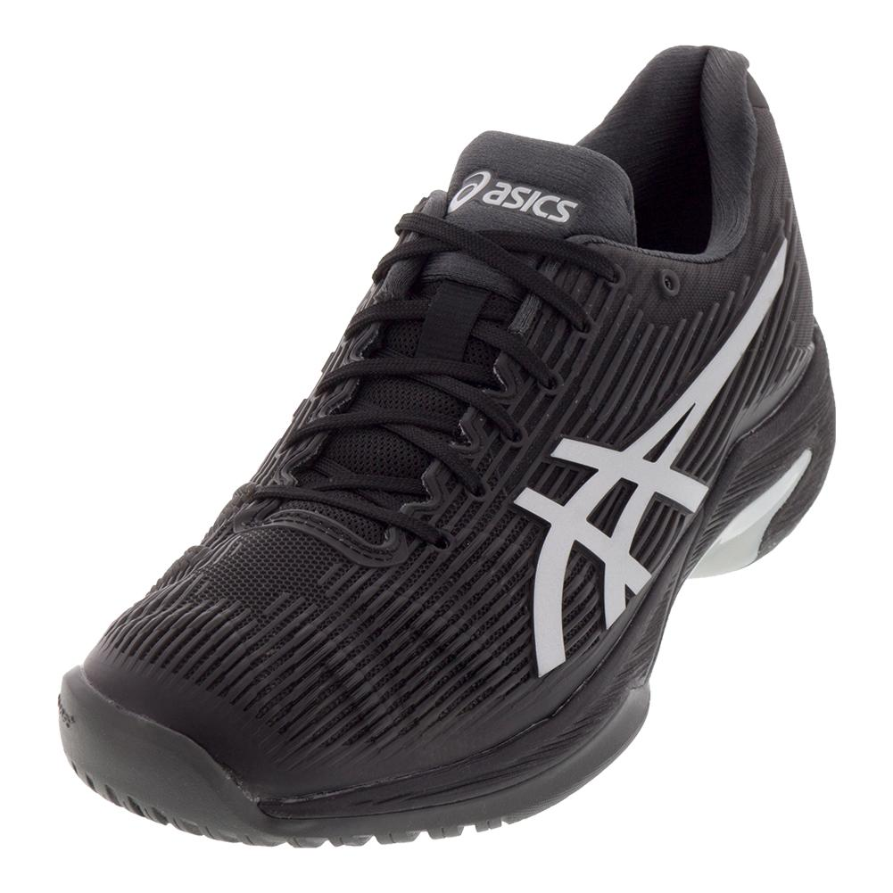 Men's Solution Speed Ff Tennis Shoes Black And Silver