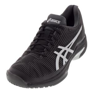 Men`s Solution Speed FF Tennis Shoes Black and Silver