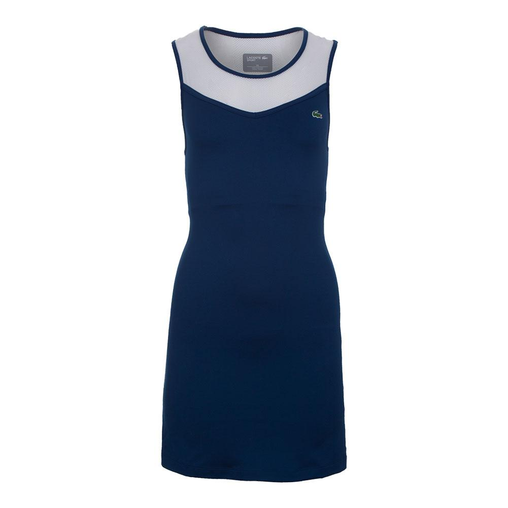 Women's Technical Stretch Jersey Tennis Dress Marino