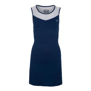 Women`s Technical Stretch Jersey Tennis Dress Marino