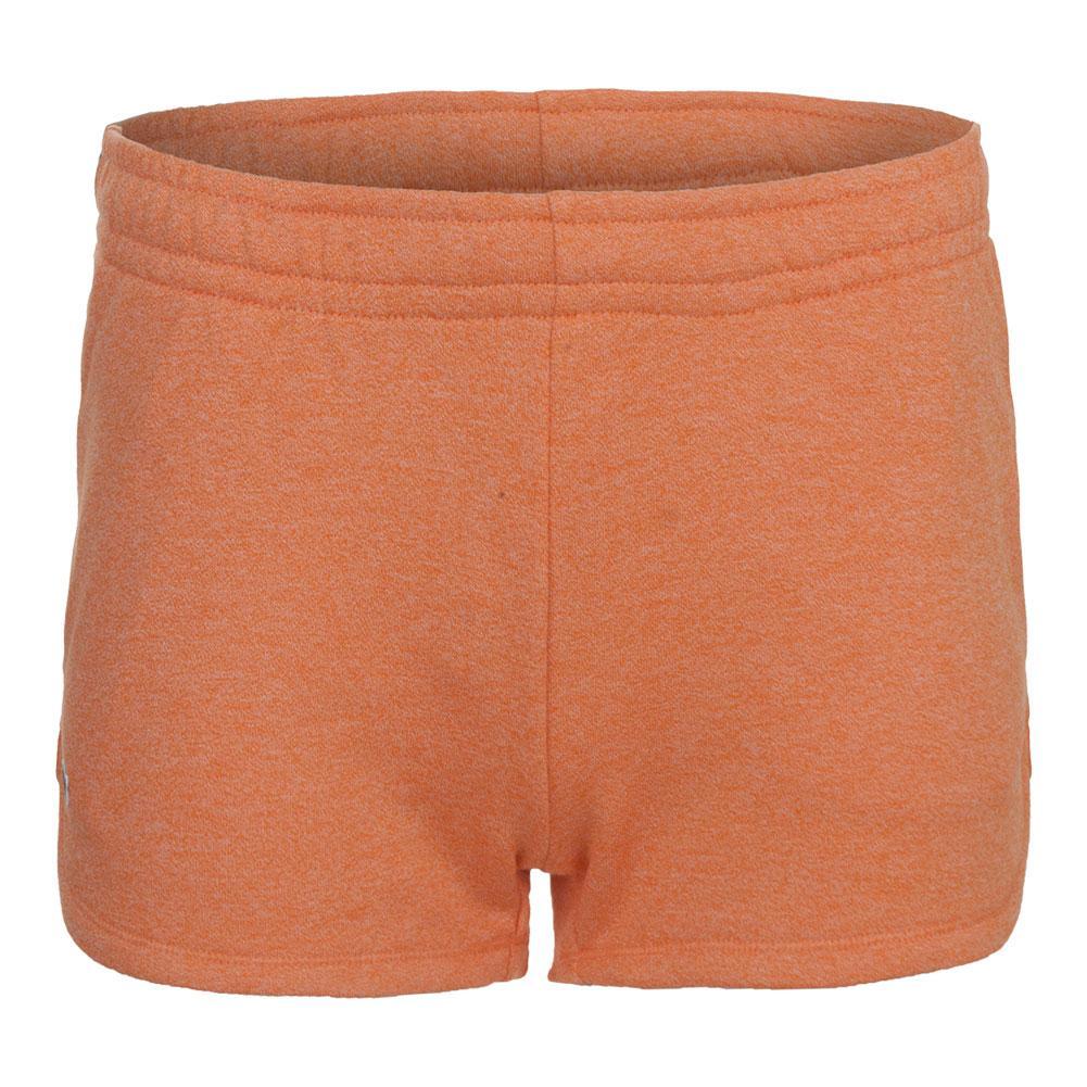 Women's Fleece Drawstring Tennis Short Orange Jaspe