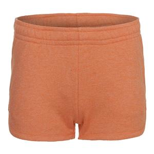 Women`s Fleece Drawstring Tennis Short Orange Jaspe