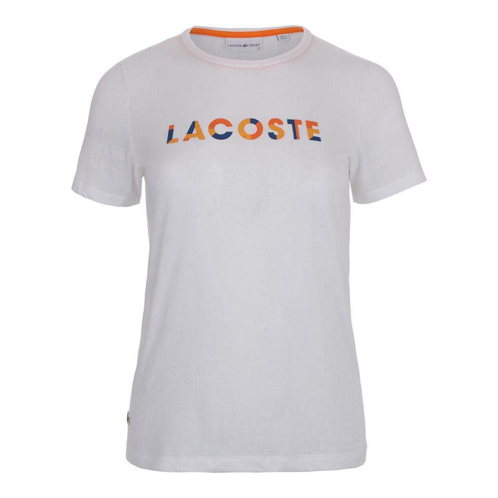 Women's Cotton Logo Tennis Tee White