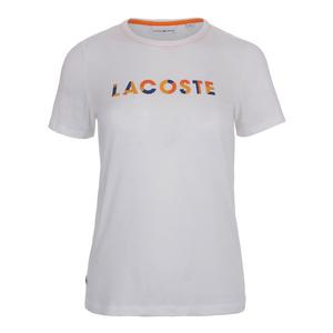 Women`s Cotton Logo Tennis Tee White