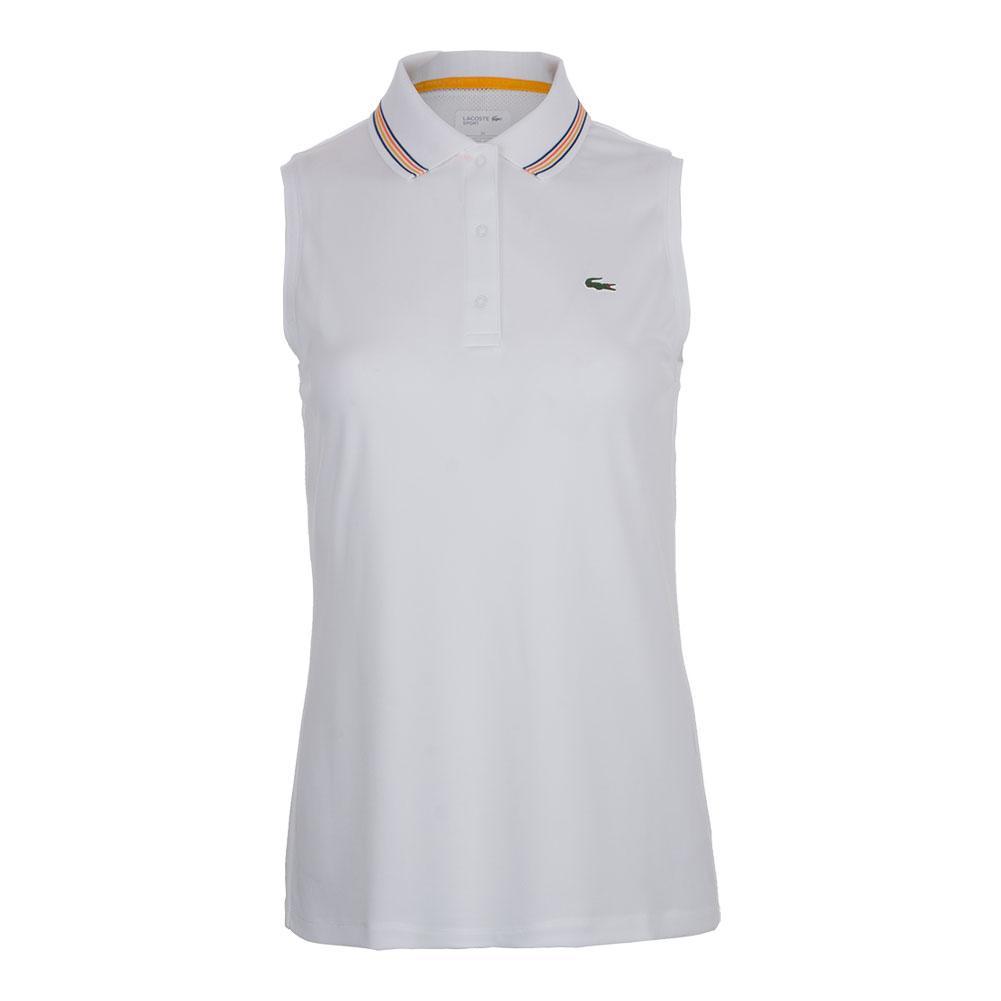 Women's Sleeveless Ultra Dry Tennis Polo White