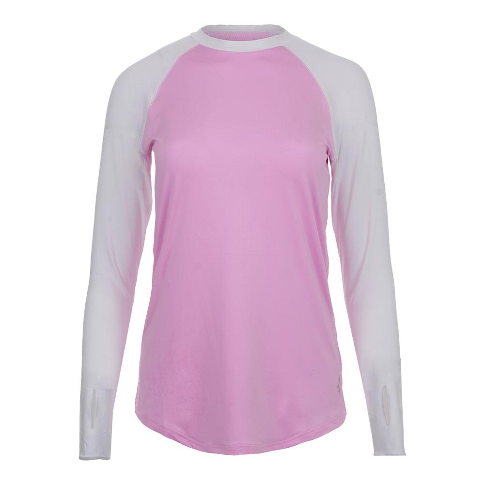 Women's Solar Long Sleeve Tennis Top Bloom And White