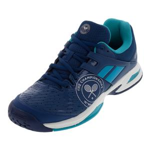 Juniors` Propulse Fury All Court Wimbledon Tennis Shoes Dark Blue