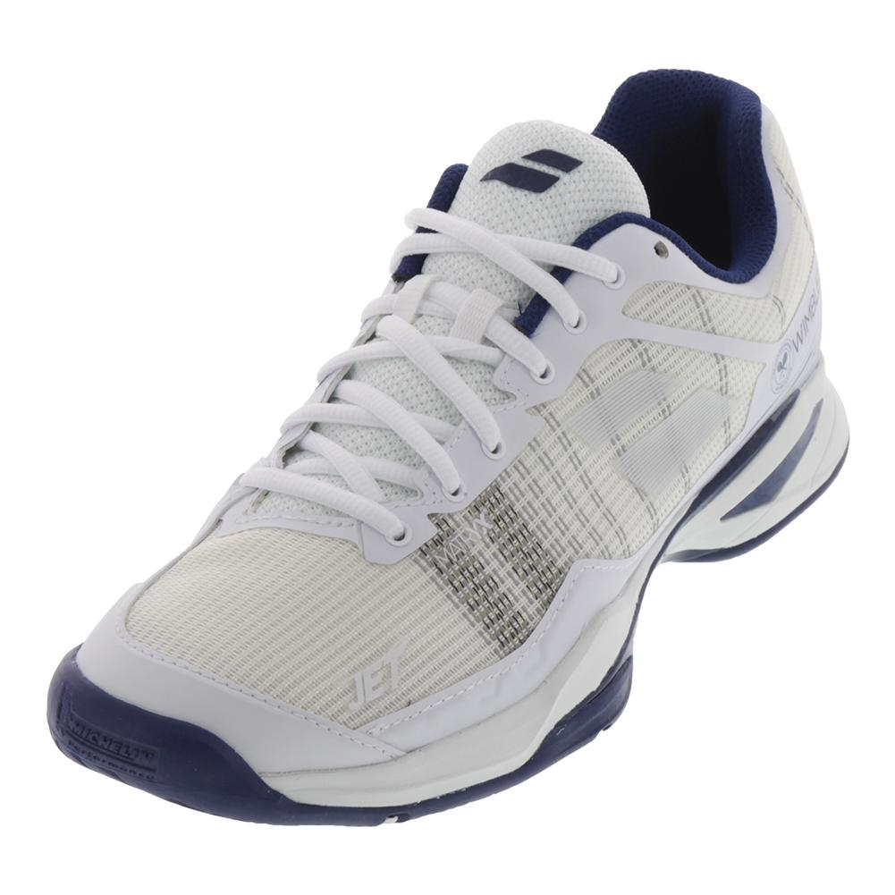 Men's Jet Mach 1 All Court Wimbledon Tennis Shoes White