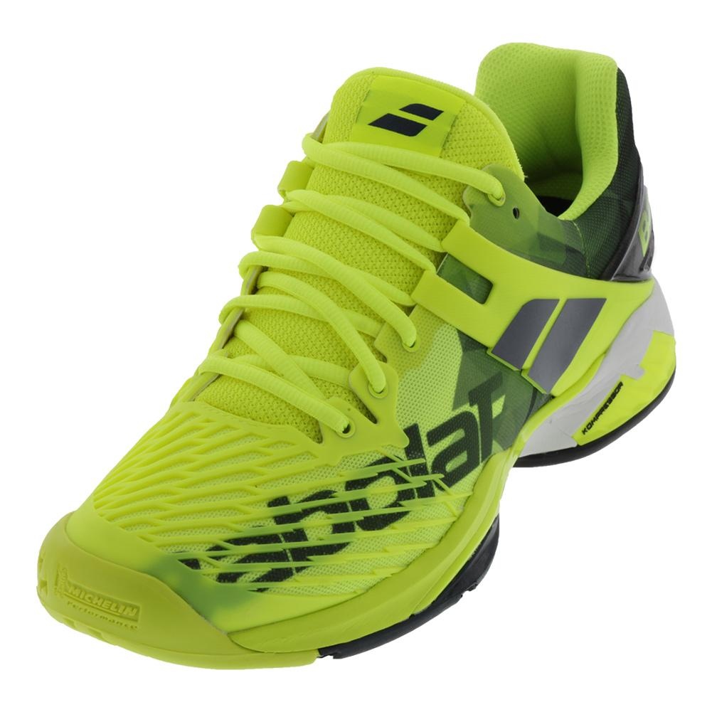 Men's Propulse Fury All Court Tennis Shoes Fluo Yellow And Black