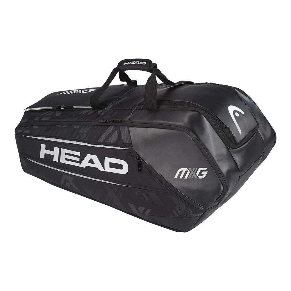 Mxg 12 Pack Monstercombi Tennis Bag Black And Silver