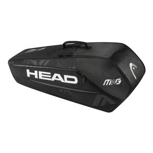 MXG 6 Pack Combi Tennis Bag Black and Silver