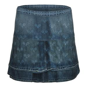 Women`s Long Tennis Skort Denim Racket