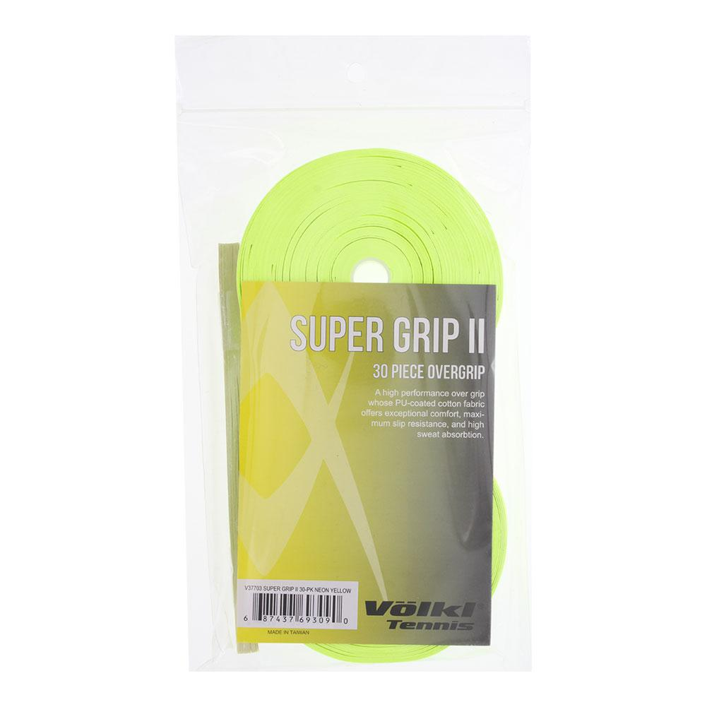 Super Grip Ii 30 Pack Tennis Overgrip Neon Yellow