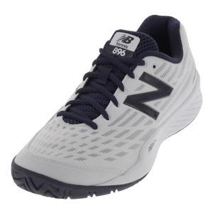 Men`s 896v2 2E Width Tennis Shoes White and Black