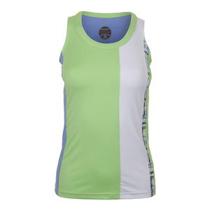 Women`s Amalfi Tennis Tank Melon and Periwinkle