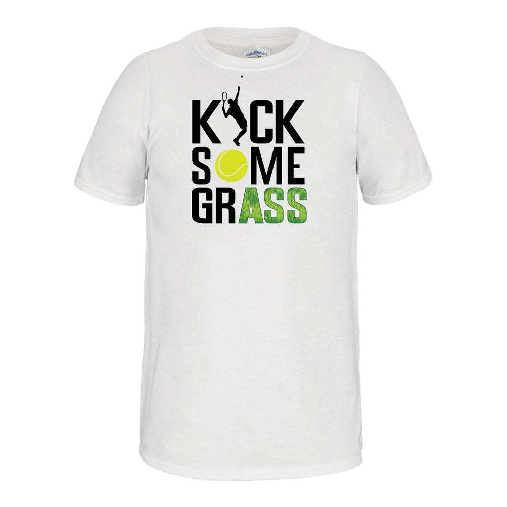 Kick Some Grass Unisex Tennis Tee White