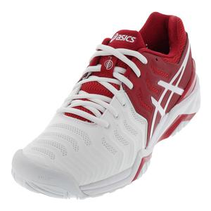 Men`s Gel-Resolution 7 Novak Tennis Shoes Red and White
