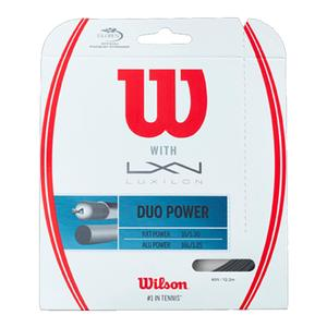 Wilson and Luxilon Duo Power Hybrid Tennis String