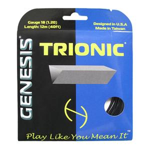 Trionic 18G 1.20 Tennis String Black