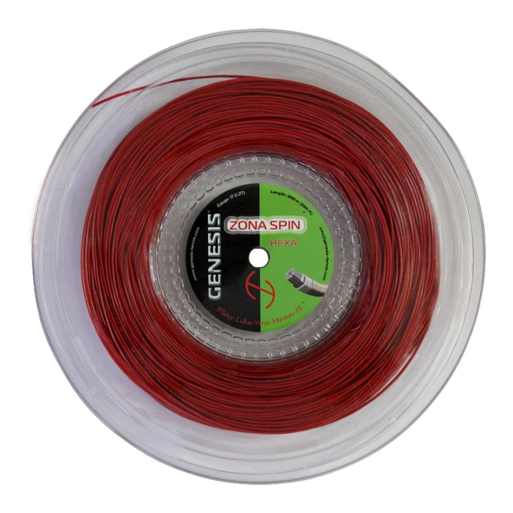 Zona Spin Hexa 17g 1.27 Red Tennis String Reel