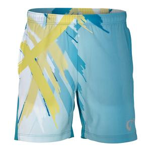 Men`s Tiger Claw Woven Tennis Short Caribbean