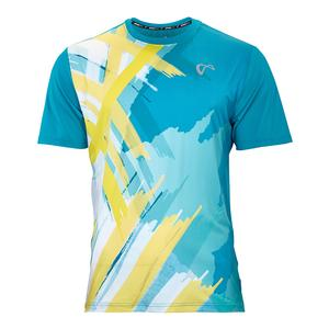 Men`s Tiger Claw Mesh Tennis Crew Caribbean