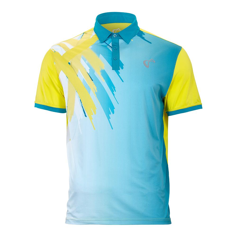 Men's Tiger Claw Tennis Polo Caribbean