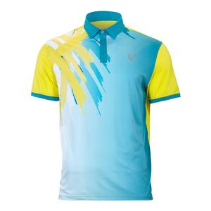 Men`s Tiger Claw Tennis Polo Caribbean