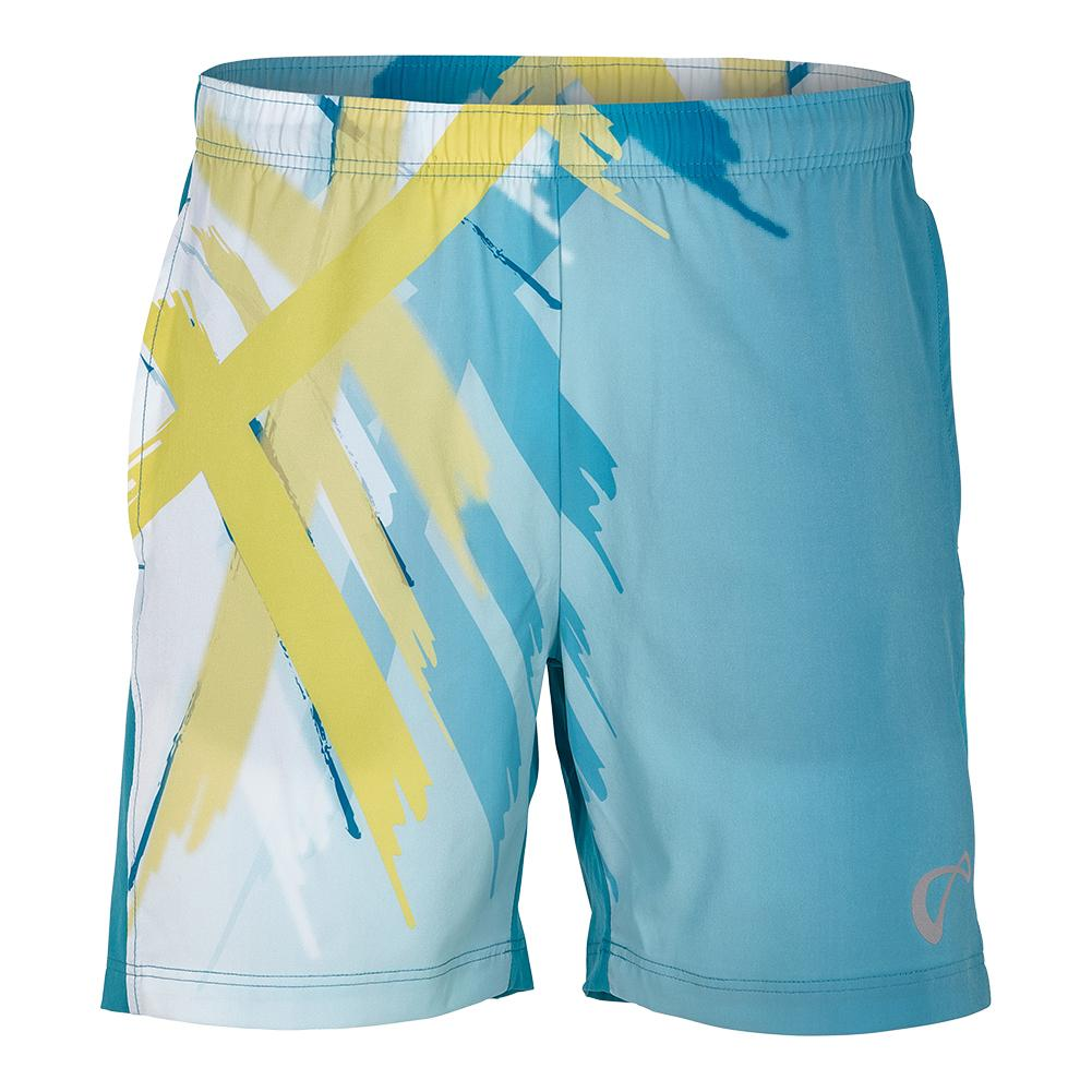 Boys ` Tiger Claw Woven Tennis Short Caribbean