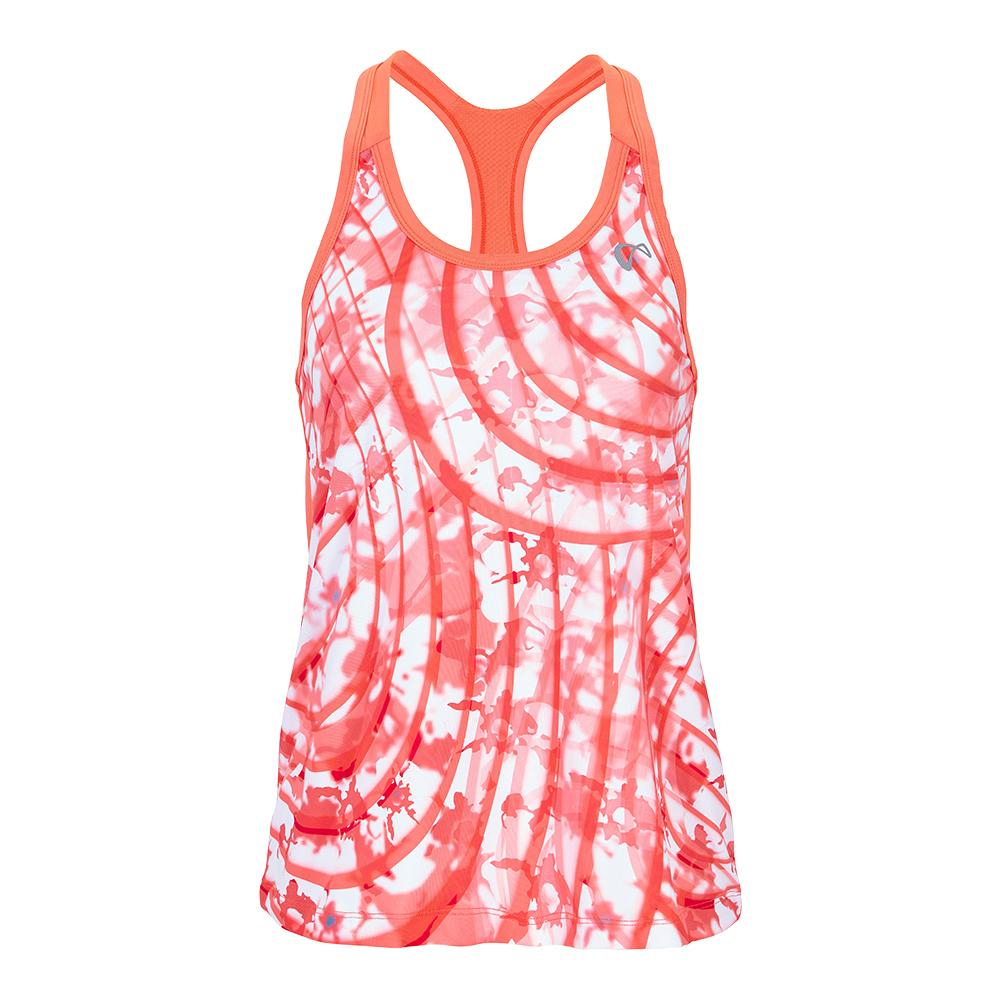 Girls'summer Waves Racerback Tennis Tank Coral