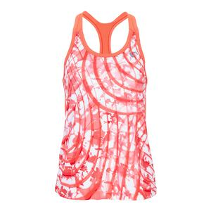 Girls` Summer Waves Racerback Tennis Tank Coral