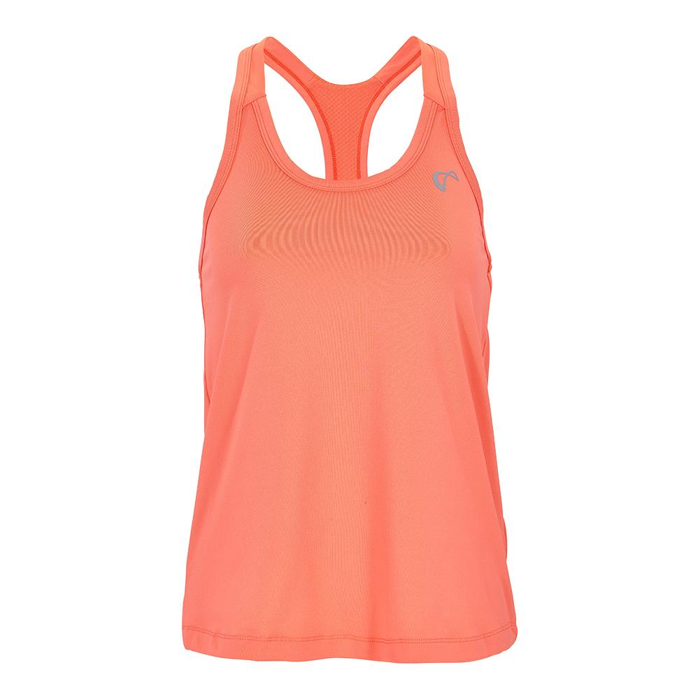 Women's Racerback Tennis Tank Coral