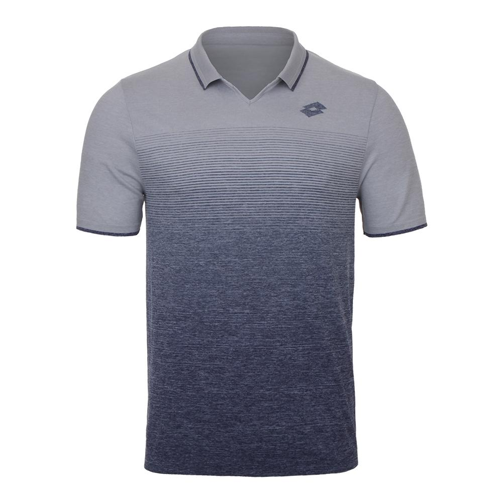 Men's Court Ii Tennis Polo Pearl And Mel Blue College