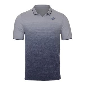 Men`s Court II Tennis Polo Pearl and Mel Blue College