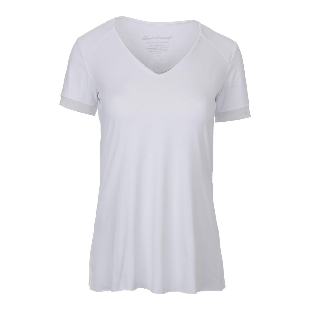 Women's Cap Sleeve Tennis Top Pure White
