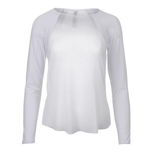 Women`s Sheer Body Tennis Top Pure White