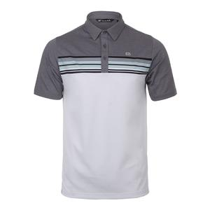 Men`s Otters Tennis Polo Heather Gray and White