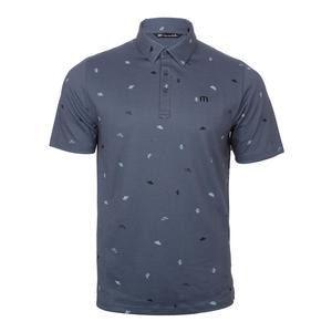 Men`s K-Maze Tennis Polo Grisaille and Porcelain Blue