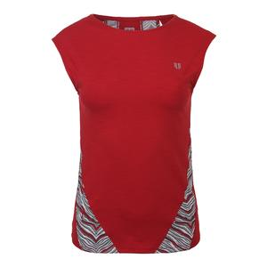 Women`s Backup Cap Sleeve Tennis Top Tango Red